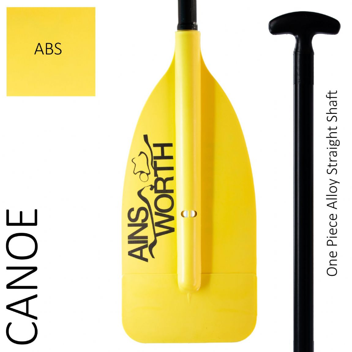 Canoe Paddle (ABS) One Piece Alloy